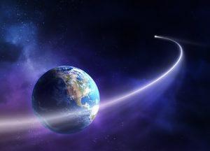 I detriti rilasciati dal passaggio di una cometa attratti dalla gravità della Terra generano lo sciame meteorico.