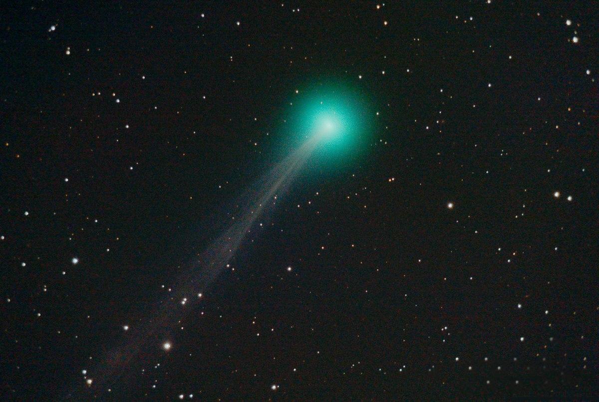 La cometa C2020_F8_(SWAN) fotografata il 1° maggio dall'Indonesia.